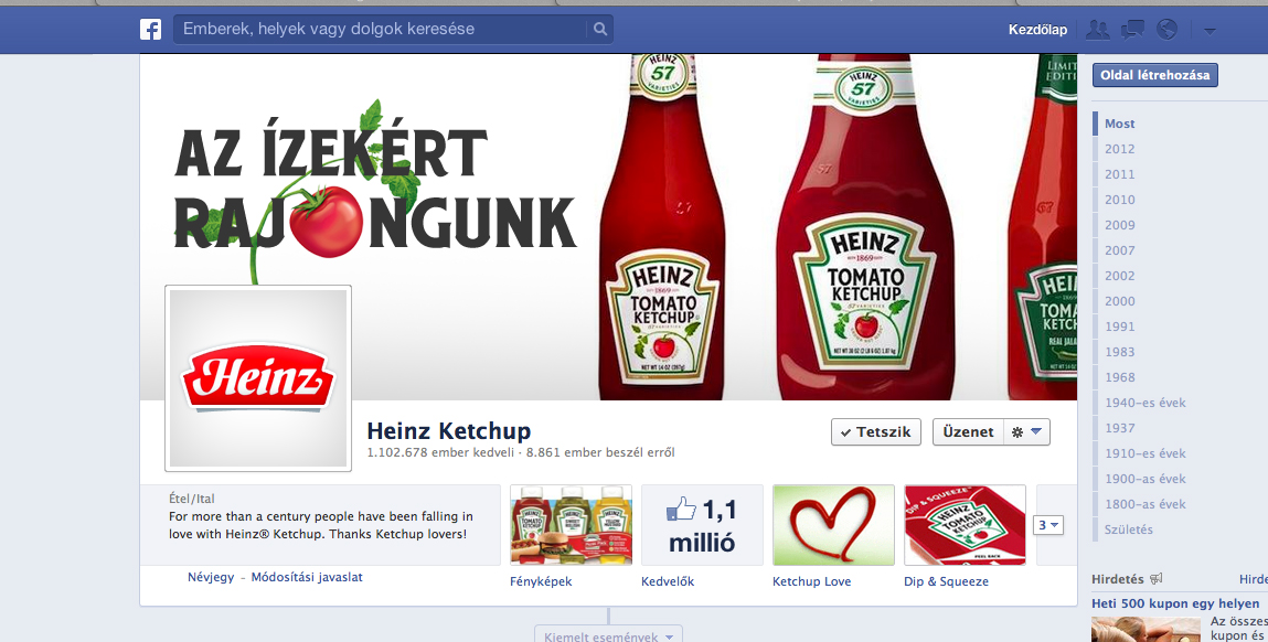 HEINZ KETCHUP FACEBOOK PAGE MANAGEMENT