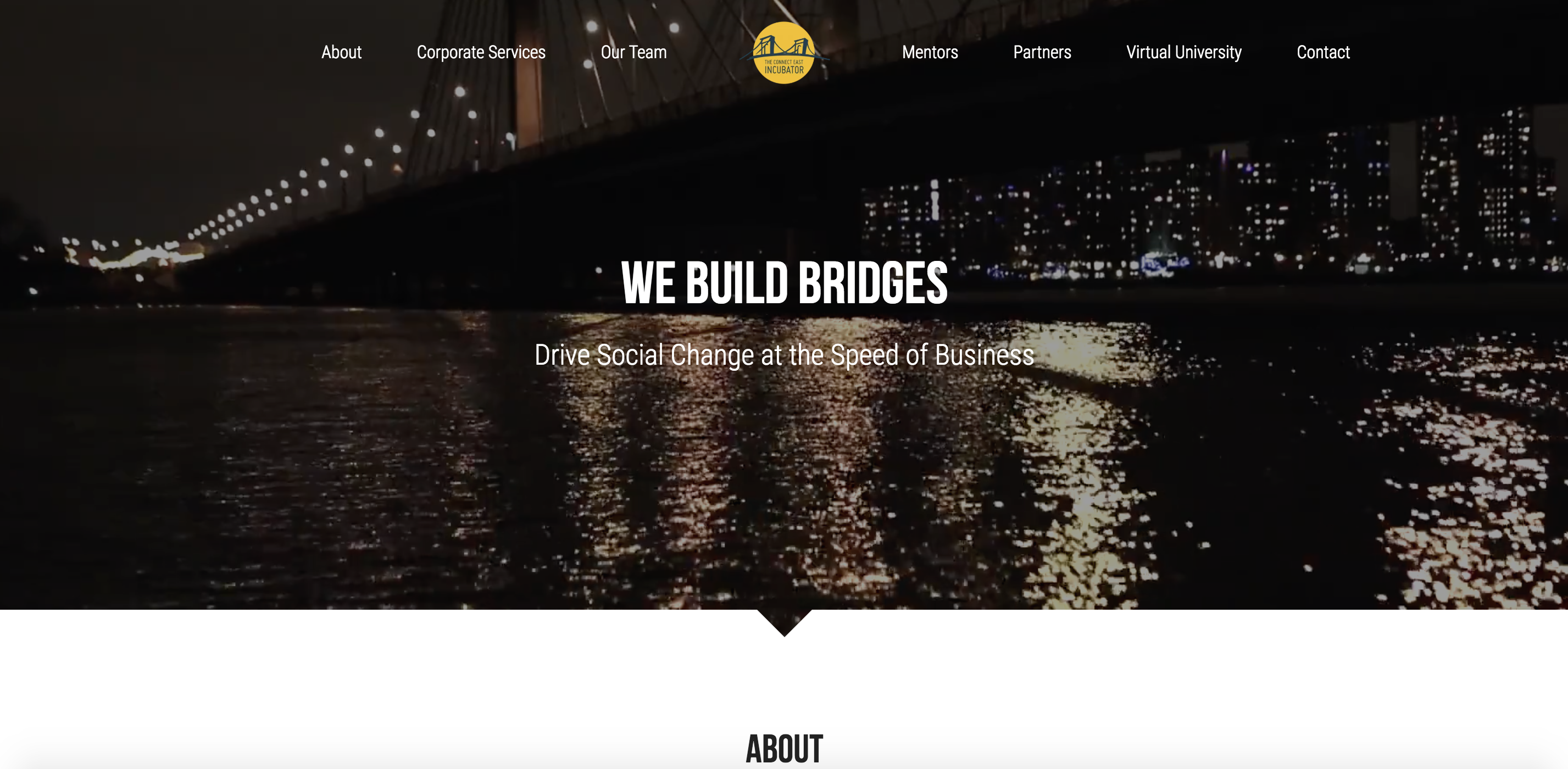the Connect East Incubator website