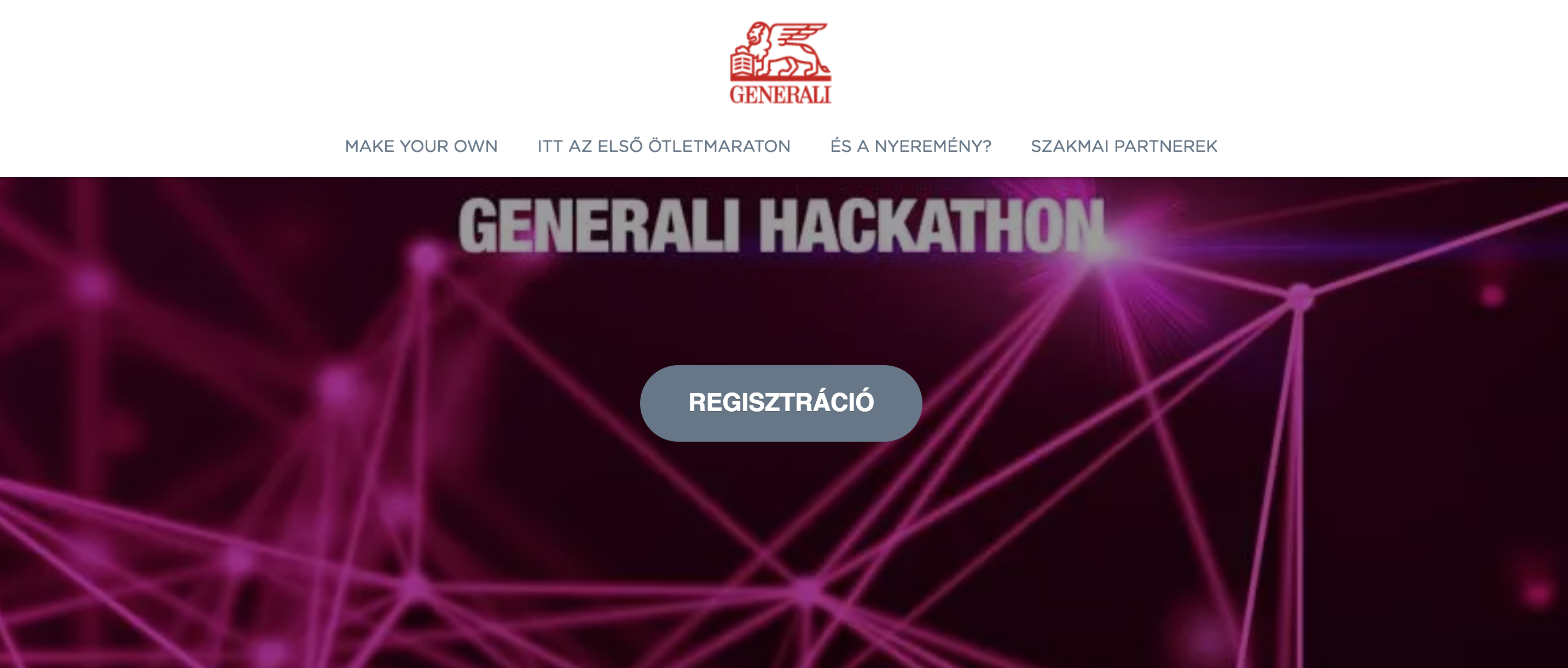 Generali Inside Hackathon Communication design
